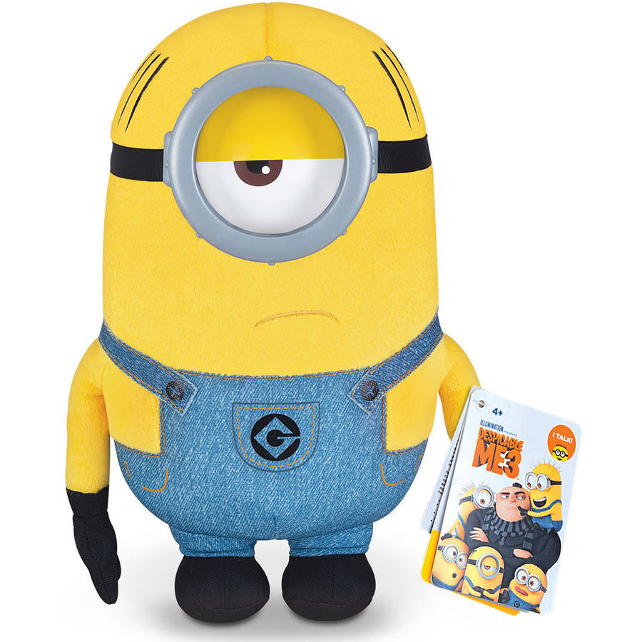 "Despicable Me 3 Deluxe Talking Huggable Minion 9.5"" Plush Mel by Thinkway Toys"