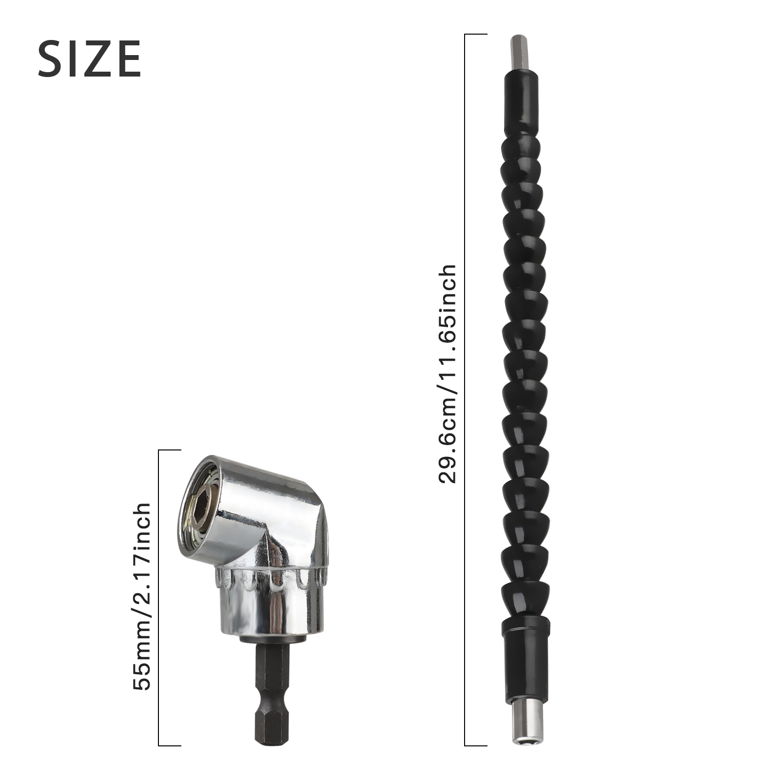 105 Degree Right Angle Extension Power Screwdriver Drill Attachment,90/° Drill Bit Adapter,Square Hole Drill Bit with 1//4 inch Drive 6mm Hex Quick Change Magnetic Drill Bit Angled Bit Power Drill Tool