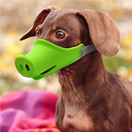 Breathable Dog Mouth Muffle Mouth Mask Prevent Biting Barking Eating Dirt Pet Supplies green S-small](Dog Masks For Sale)