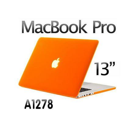 Hard Case Laptop Shell Keyboard Skin Screen Protector For Macbook Pro 13  13 3   Not Retina  A1278 Orange