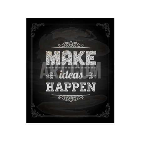 Quote Typographical Design. Make Ideas Happen