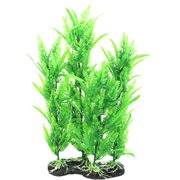 "uxcell 15.4"" High Fish Tank Emulational Green Plastic Underwater Plant Decor"