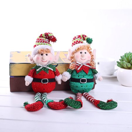 Newpee Cute Colorful Long-Legged Elf Christmas Doll Gift Party Home Tree - Elf Christmas Decorations