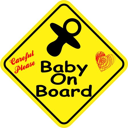 5in x 5in Careful Please Baby On Board Sticker