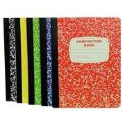 College Ruled 100 Sheet Composition Notebooks - School Supplies Bundle - 5 College Ruled Composition Notebooks - 1 Black, 1 Red, 1 Green, 1 Blue, and 1 Yellow