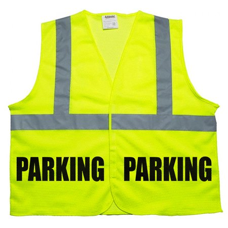 Parking Staff vest in mesh fabric, very breathable and high visibility ()