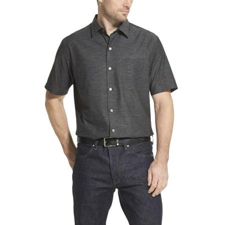 Van Heusen Men's Air Texture Short Sleeve Button Down