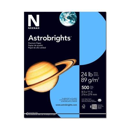 Astrobrights 8.5 x 11 Lunar Blue Paper 60lb Text (60lb Text Paper)