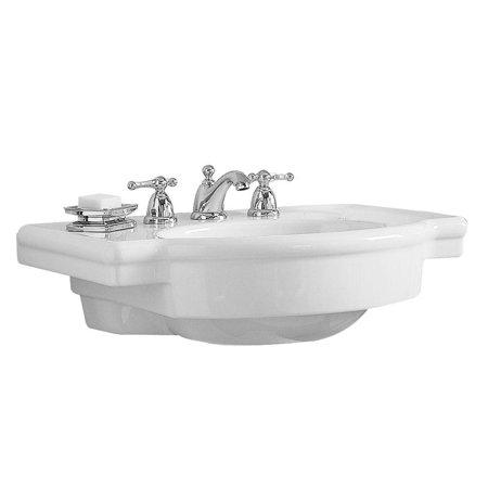 American Standard Retrospect Console Clay Bathroom Sink 0282.008.020 White (Revival Pedestal Sink Basin)