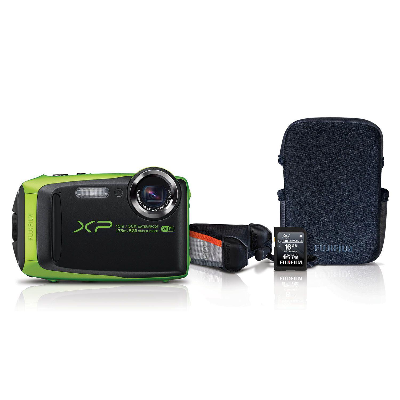 Fuji XP90 Waterproof Digital Camera, 16.4MP CMOS 5x Zoom,...