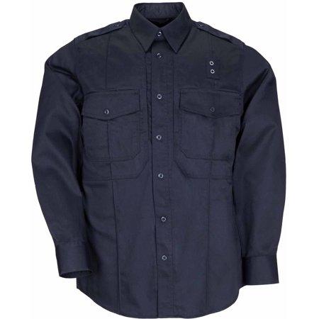 5.11 Tactical Men's Twill PDU Long Sleeve Class-B Shirt, Midnight Navy