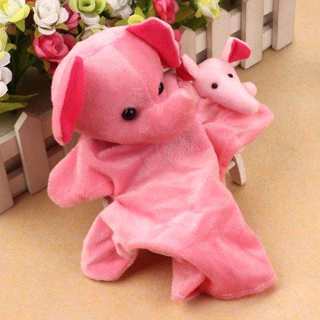 4 Plush Finger Puppet (2Pcs Elephants Animal Finger Puppet Baby Infant Kid Toy Plush Toys )