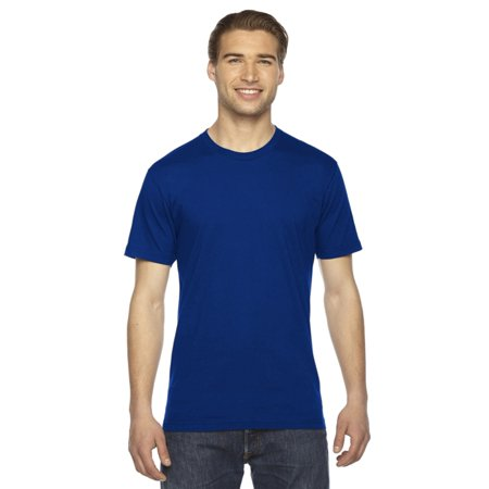 Blue Batting Practice Baseball Jersey - American Apparel Unisex Fine Jersey Short-Sleeve T-Shirt (2001) -LAPIS -3XL