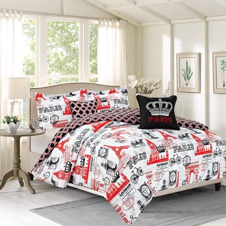 Eiffel Tower Twin Bedding Set