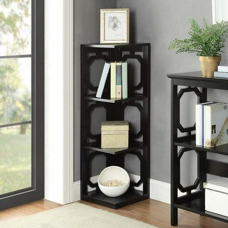 Convenience Concepts Omega 3 Tier Corner Bookcase, Multiple Finishes