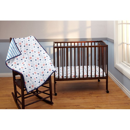 Disney Baby Bedding Mickey Mouse 3-Piece Portable Crib Bedding Set