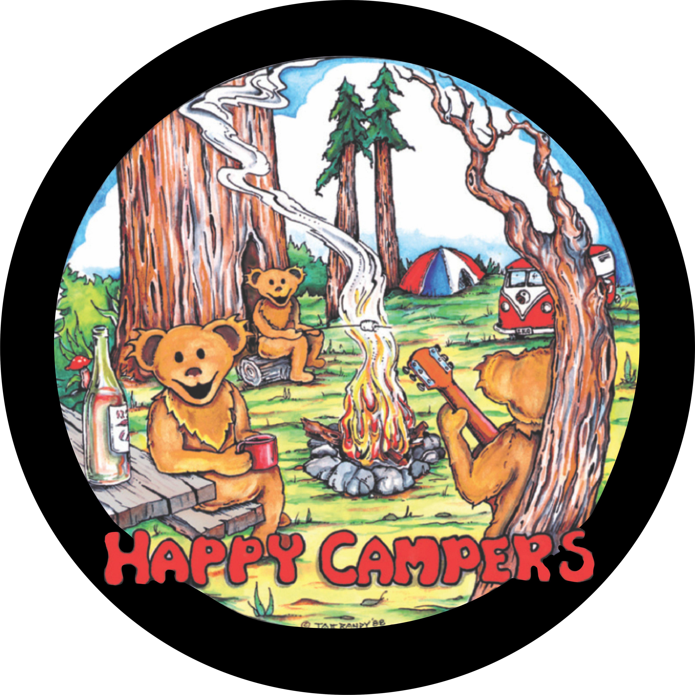 Happy Camper Spare Tire Cover