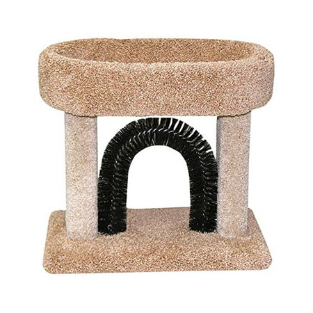 Beatrise Carpeted Kitty Cradle Cat Condo Bed with Scratching Post and (Carpeted Kitty)