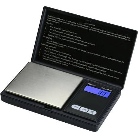 Smart Weigh Elite Series Digital Pocket Scale, 1,000 x 0.1g, Black, SW-SWS1KG-BLK