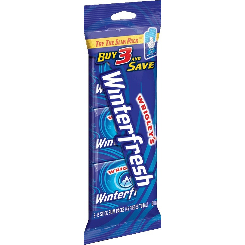 Wrigley's Winterfresh Gum, multipack (3 packs total)
