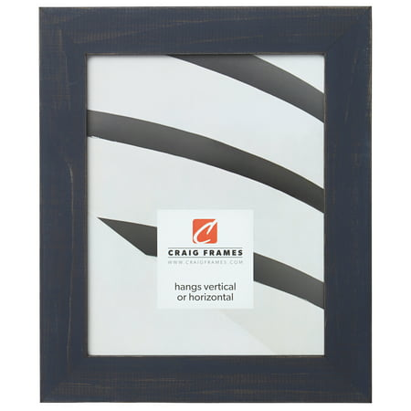 Craig Frames Jasper, Country Weathered Blue Picture Frame, 24 x 24 Inch
