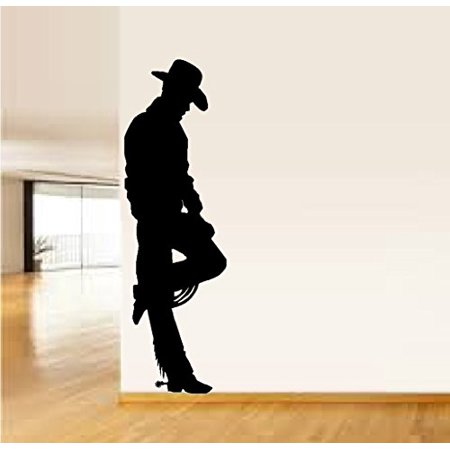 Decal ~ COWBOY LEANING #16 ~ WALL DECAL, HOME DECOR 22