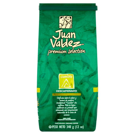 Valdez Arm - Juan Valdez Premium Selection Decaffeinated Cumbre Ground Coffee, 12 Oz