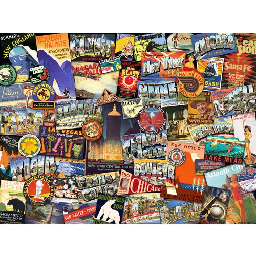 Ravensburger Road Trip USA Puzzle, 1000 Pieces