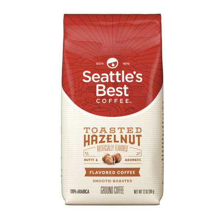 - Seattle's Best Coffee Toasted Hazelnut Flavored Medium Roast Ground Coffee, 12-Ounce Bag