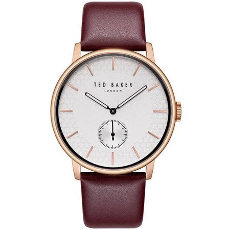 James Bond Omega Watch (Men's Ted Baker James Red Leather Band Watch TE50375005)