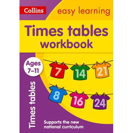 Collins Easy Learning Age 7-11 — Times Tables Workbook Ages 7-11: New
