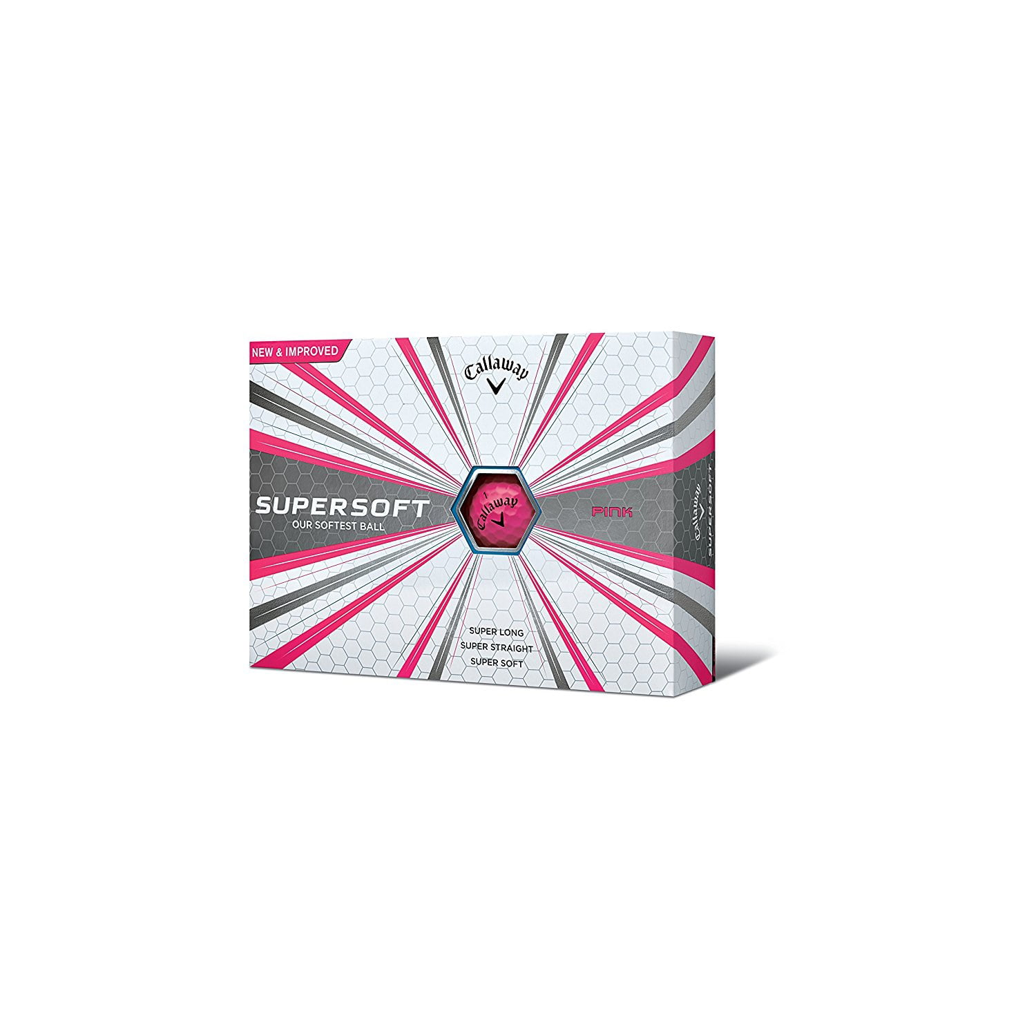 Callaway 2017 Supersoft Golf Balls (One Dozen)-White by CALLAWAY