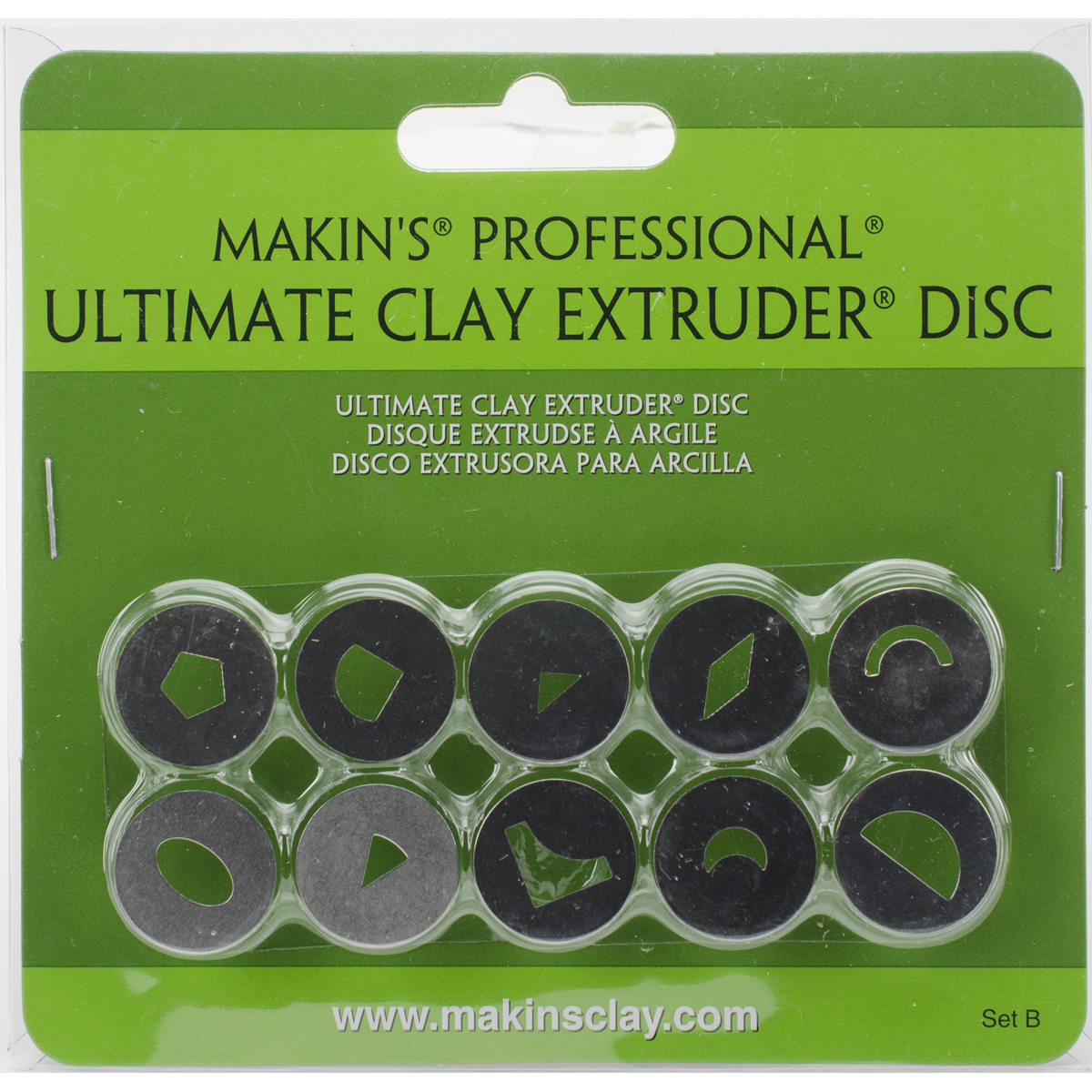Makin's Professional Ultimate Clay Extruder Discs 10/Pkg-Set B