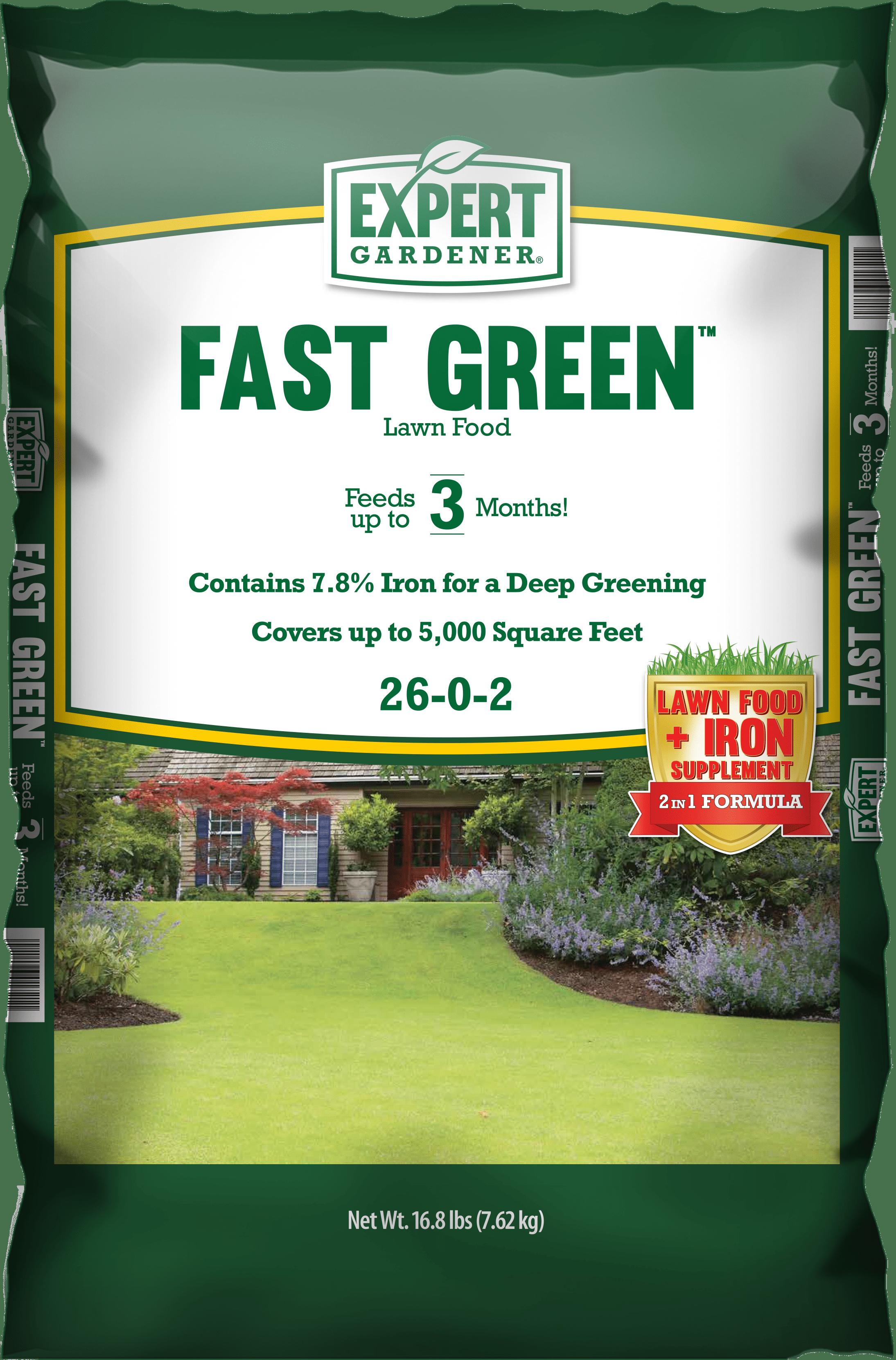 expert gardener lawn fertilizer fast green lawn food 26-0-2, covers 5,000  square feet