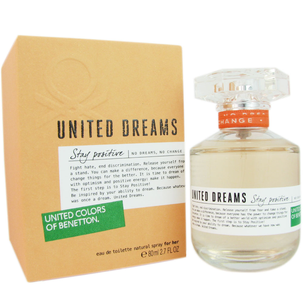 Benetton United Dreams Stay Positive Women 2.7 oz EDT Spray