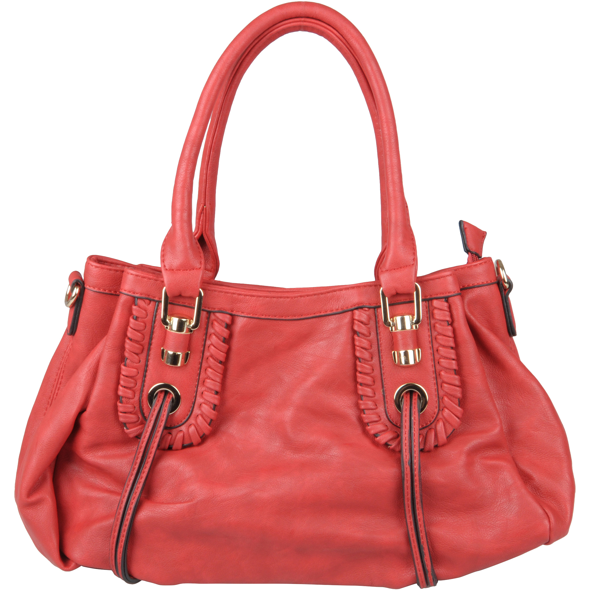 Brinley Co Womens Zip-top Slouch Faux Leather Hobo Bag