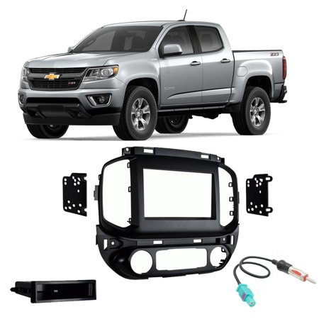 Chevy Colorado 2019 Single or Double DIN Stereo Radio Install Dash on