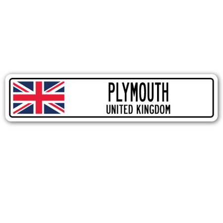 PLYMOUTH, UNITED KINGDOM Street Sign British Britons Brits flag city  gift