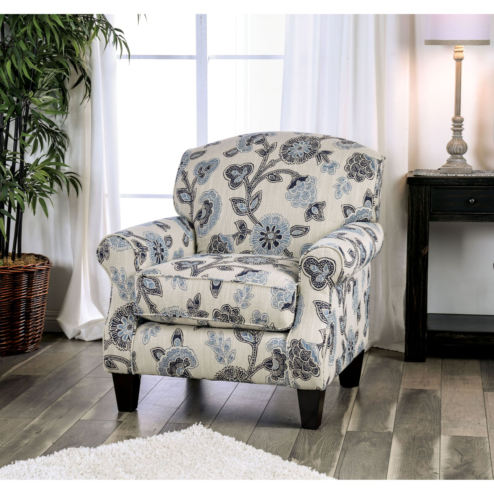 Picture of: Furniture Of America Deveraux Floral Arm Chair Walmart Com Walmart Com