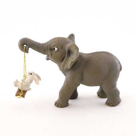Miniature Fairy Garden Elephant and Bunny Playing