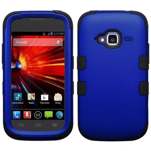 Insten Titanium Dark Blue/Black TUFF Hybrid Phone Cover Protective Case For ZTE Concord 2 II Z730