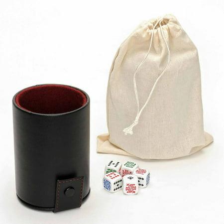 Black Vinyl Dice Cup With Poker Dice And Storage Walmartcom - Vinyl dice cup