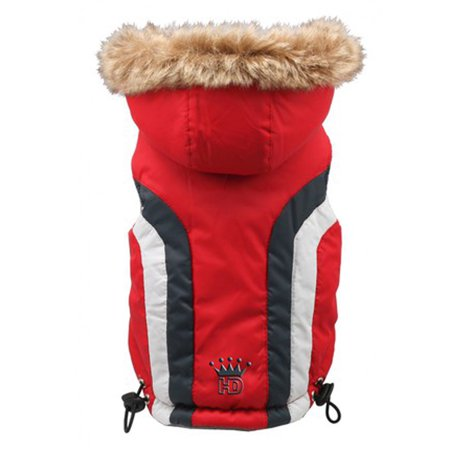 Swiss Alpine Ski Dog Vest by Hip Doggie - Red X-Large