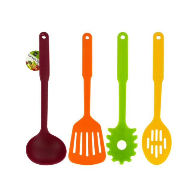 Bulk Buys HW753-12 Colored Plastic Kitchen Utensil, 12 Piece