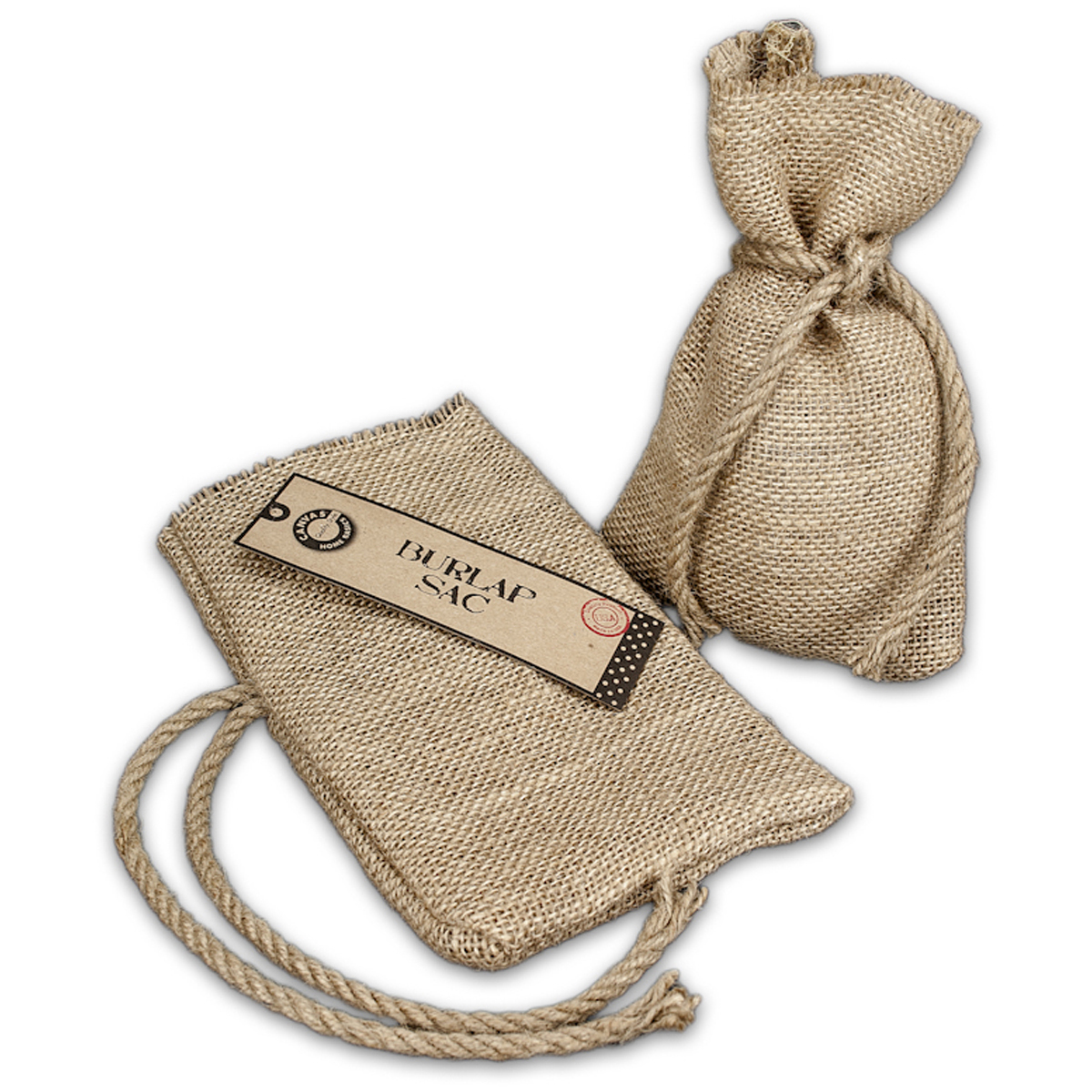 Canvas Corp 5.25-Inch by 8-Inch Burlap Sack, Small, Natural Multi-Colored