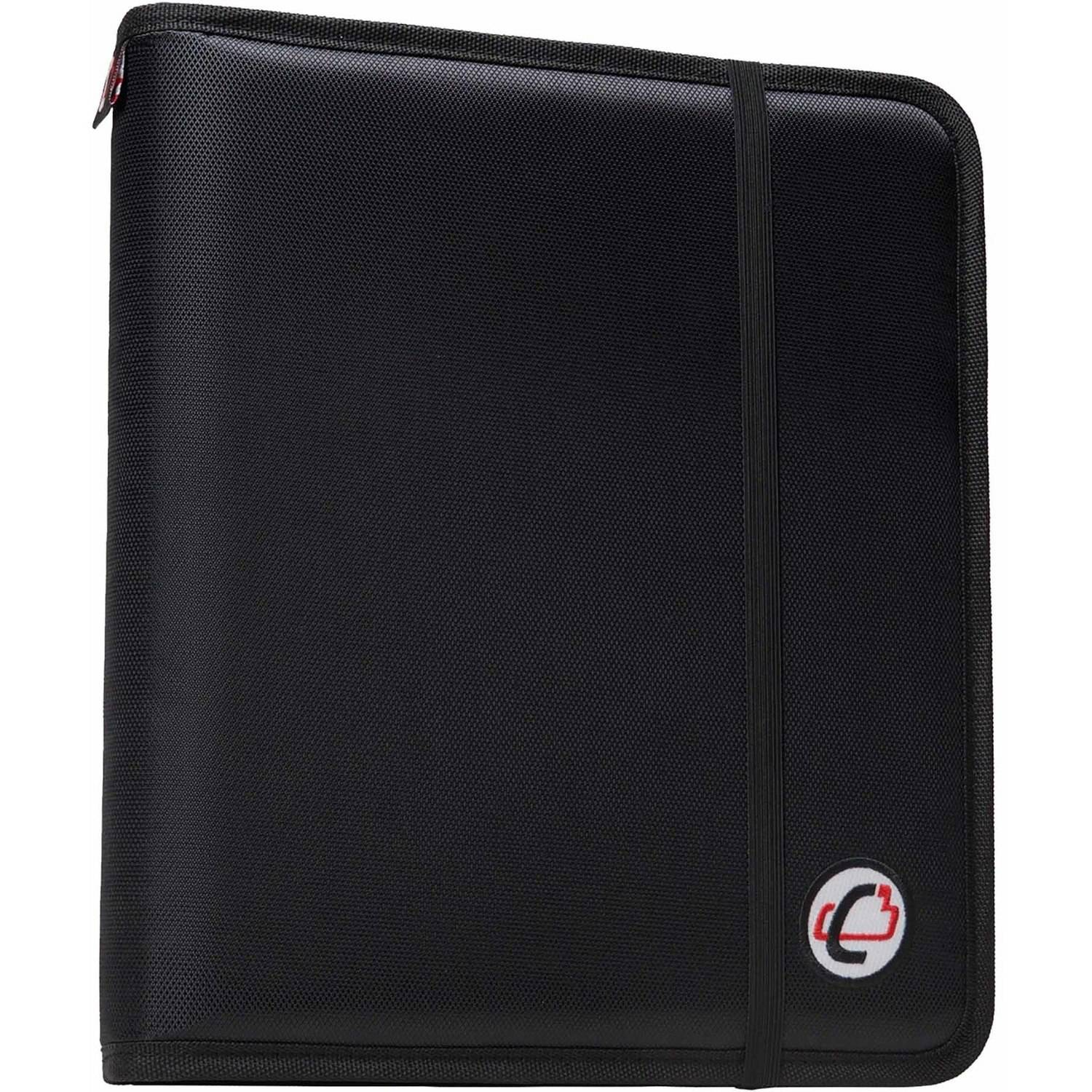 Case-It Slim 1-Inch D-Ring Binder with Expandable File Folder, Black, SLIM-630-FN-BK by Case it, Inc.