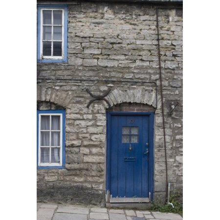 Door and Windows in Front of a Traditional Stone Cottage in Village of Corfe Castle Dorset Uk Print Wall Art By Natalie (Best Villages In Dorset)