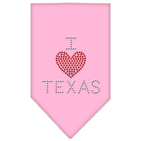 I Heart Texas Rhinestone Bandana Light Pink Large
