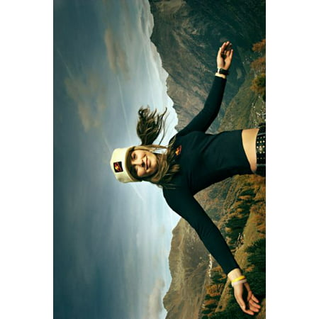 Lindsey Vonn Poster Mountain Sceve Metal Sign 8Inx 12In