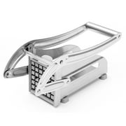 """Stainless Steel Home Vegetable Cutter 0.36"""" and 0.47 """" Interchangeable Cutting Blades French Fry Potato Cutter Vegetable Fruit Dicer Chopper , French Fries, Carrots, Small Potato"""